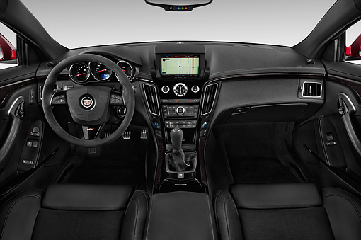 AUT 30 IZ1888 01 © Kimball Stock 2014 Cadillac CTS Coupe V RWD 2-Door Interior Detail In Studio