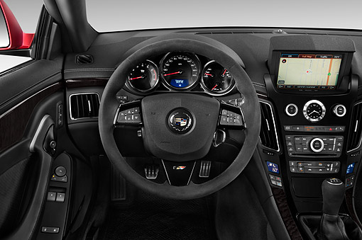 AUT 30 IZ1889 01 © Kimball Stock 2014 Cadillac CTS Coupe V RWD 2-Door Interior Detail In Studio