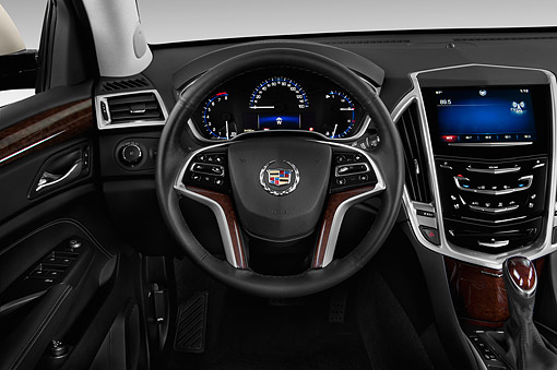 AUT 30 IZ1905 01 © Kimball Stock 2014 Cadillac SRX FWD Premium Collection 5-Door SUV Interior Detail