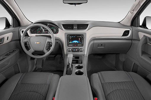 AUT 30 IZ1963 01 © Kimball Stock 2014 Chevrolet Traverse 3.6 AT LS 5-Door SUV Interior Detail