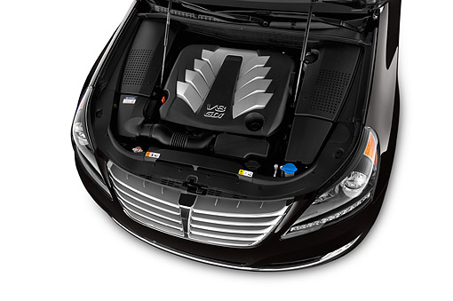 AUT 30 IZ2014 01 © Kimball Stock 2014 Hyundai Equus Ultimate 4-Door Sedan Engine Detail