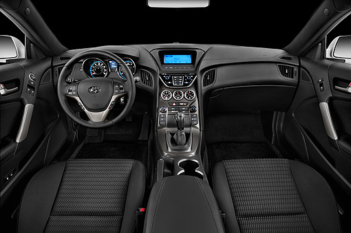AUT 30 IZ2020 01 © Kimball Stock 2014 Hyundai Genesis Coupe 2.0t 8 Speed AT 2-Door Interior Detail