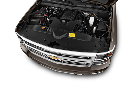 AUT 30 IZ2022 01 © Kimball Stock 2014 Chevrolet Silverado 1500 High Country Crew Cab Standard Box 4-Door Truck Engine Detail