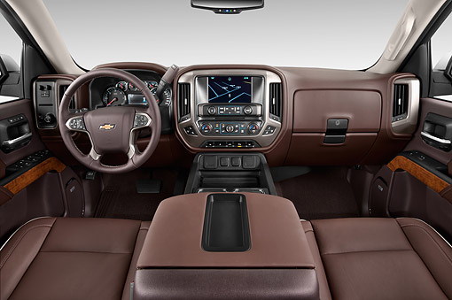 AUT 30 IZ2024 01 © Kimball Stock 2014 Chevrolet Silverado 1500 High Country Crew Cab Standard Box 4-Door Truck Interior Detail