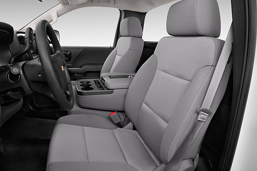 AUT 30 IZ2030 01 © Kimball Stock 2014 Chevrolet Silverado 2500 HD Work Truck Regular Cab LWB 2-Door Interior Detail