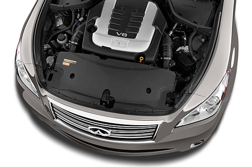 AUT 30 IZ2078 01 © Kimball Stock 2014 Infiniti Q70 56 FWD 4-Door Sedan Engine Detail