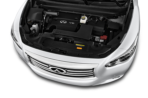 AUT 30 IZ2090 01 © Kimball Stock 2014 Infiniti QX60 3.5 5-Door SUV Engine Detail