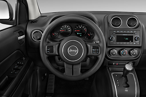AUT 30 IZ2122 01 © Kimball Stock 2014 Jeep Compass Sport 5-Door SUV Interior Detail