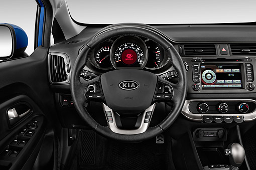 AUT 30 IZ2161 01 © Kimball Stock 2014 Kia Rio5 AT SX 5-Door Hatchback Interior Detail