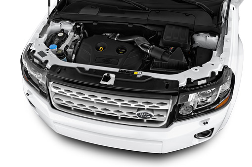 AUT 30 IZ2174 01 © Kimball Stock 2014 Land Rover LR2 Base 5-Door SUV Engine Detail