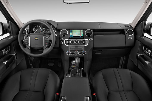 AUT 30 IZ2180 01 © Kimball Stock 2014 Land Rover LR4 Base 5- Door SUV Interior Detail