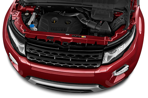 AUT 30 IZ2182 01 © Kimball Stock 2014 Land Rover Range Rover Evoque Pure 5-Door SUV Engine Detail