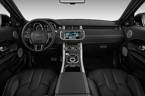 AUT 30 IZ2184 01 © Kimball Stock 2014 Land Rover Range Rover Evoque Pure 5-Door SUV Interior Detail