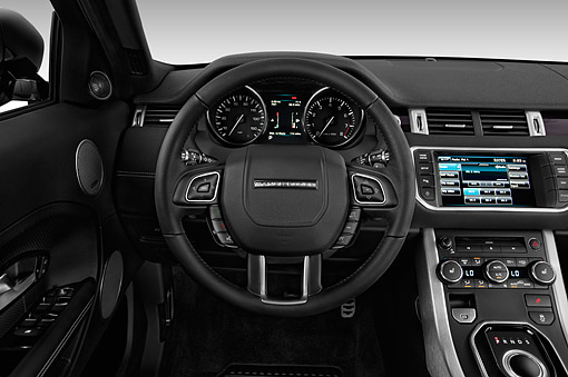 AUT 30 IZ2185 01 © Kimball Stock 2014 Land Rover Range Rover Evoque Pure 5-Door SUV Interior Detail