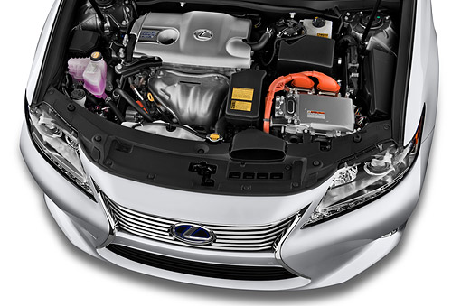 AUT 30 IZ2186 01 © Kimball Stock 2014 Lexus ES 300h 4-Door Sedan Engine Detail