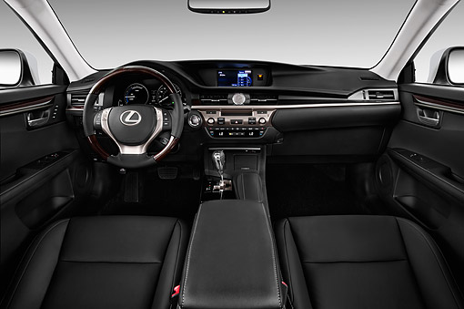AUT 30 IZ2188 01 © Kimball Stock 2014 Lexus ES 300h 4-Door Sedan Interior Detail