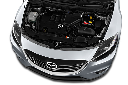 AUT 30 IZ2202 01 © Kimball Stock 2014 Mazda CX-9 Sport FWD 5-Door SUV Engine Detail