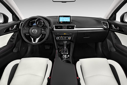 AUT 30 IZ2257 01 © Kimball Stock 2014 Mazda 3i Grand Touring AT 5-Door Hatchback Interior Detail