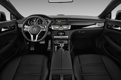 AUT 30 IZ2290 01 © Kimball Stock 2014 Mercedes Benz CLS Class 63 AMG 2-Door Coupe Interior Detail