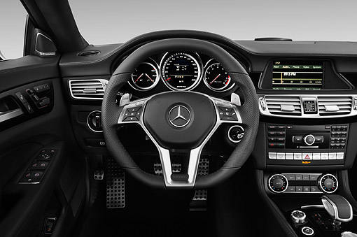 AUT 30 IZ2291 01 © Kimball Stock 2014 Mercedes Benz CLS Class 63 AMG 2-Door Coupe Interior Detail