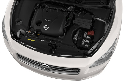 AUT 30 IZ2336 01 © Kimball Stock 2014 Nissan Maxima 3.5s 4-Door Sedan Engine Detail