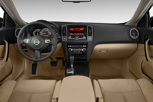 AUT 30 IZ2338 01 © Kimball Stock 2014 Nissan Maxima 3.5s 4-Door Sedan Interior Detail