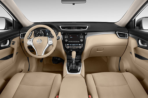 AUT 30 IZ2366 01 © Kimball Stock 2014 Nissan Rogue SV FWD 5-Door SUV Interior Detail