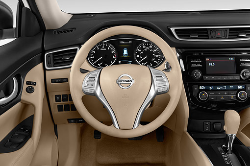 AUT 30 IZ2367 01 © Kimball Stock 2014 Nissan Rogue SV FWD 5-Door SUV Interior Detail