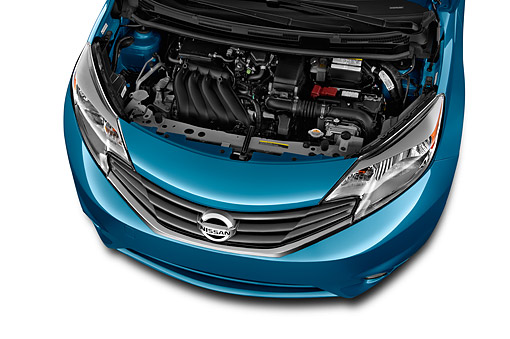 AUT 30 IZ2372 01 © Kimball Stock 2014 Nissan Versa Note 1.6s Plus CVT 5-Door Hatch Engine Detail