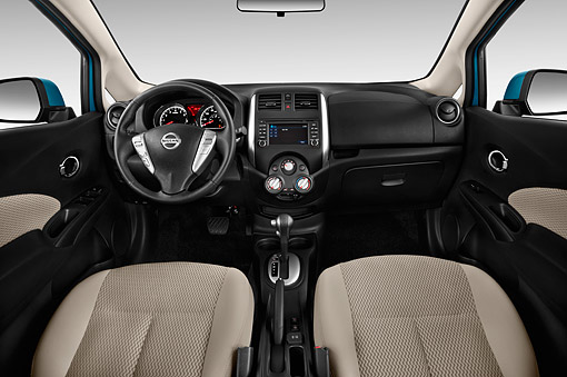 AUT 30 IZ2374 01 © Kimball Stock 2014 Nissan Versa Note 1.6s Plus CVT 5-Door Hatch Interior Detail