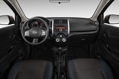 AUT 30 IZ2378 01 © Kimball Stock 2014 Nissan Versa Sedan 1.6 SV CVT 4-Door Interior Detail