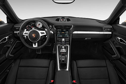 AUT 30 IZ2382 01 © Kimball Stock 2014 Porsche 911 Carrera Coupe 2-Door Interior Detail