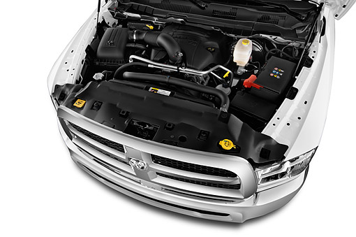 AUT 30 IZ2396 01 © Kimball Stock 2014 Ram 2500 Tradesman Regular Cab SWB 2-Door Truck Engine Detail