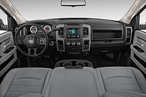 AUT 30 IZ2398 01 © Kimball Stock 2014 Ram 2500 Tradesman Regular Cab SWB 2-Door Truck Interior Detail