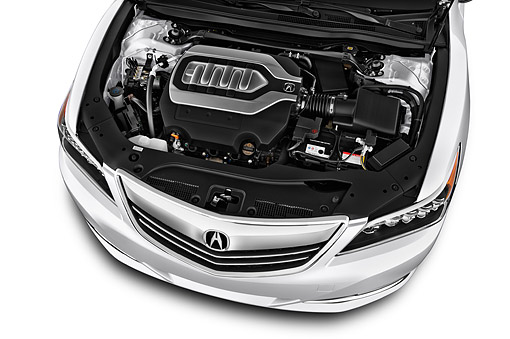 AUT 30 IZ2420 01 © Kimball Stock 2015 Acura RLX 3.5 Auto 4-Door Sedan Engine Detail