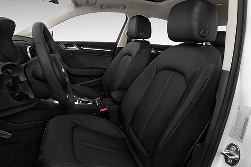 AUT 30 IZ2425 01 © Kimball Stock 2015 Audi A3 2.0 T DSG 4-Door Sedan Interior Detail