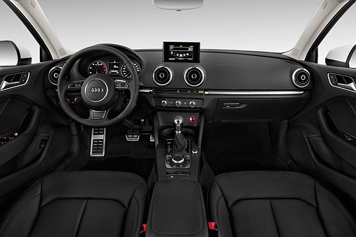 AUT 30 IZ2426 01 © Kimball Stock 2015 Audi A3 2.0 T DSG 4-Door Sedan Interior Detail