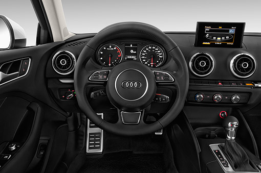 AUT 30 IZ2427 01 © Kimball Stock 2015 Audi A3 2.0 T DSG 4-Door Sedan Interior Detail