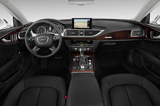 AUT 30 IZ2434 01 © Kimball Stock 2015 Audi A7 3.0t Quattro 4-Door Sedan Interior Detail