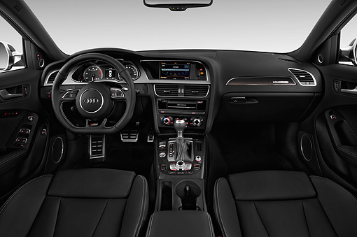 AUT 30 IZ2451 01 © Kimball Stock 2015 Audi S4 3.0t Quattro Manual Premium Plus 4-Door Interior Detail