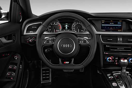 AUT 30 IZ2452 01 © Kimball Stock 2015 Audi S4 3.0t Quattro Manual Premium Plus 4-Door Interior Detail