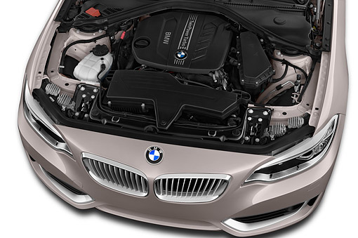 AUT 30 IZ2466 01 © Kimball Stock 2015 BMW 2 Series 228i Coupe 2-Door Engine Detail
