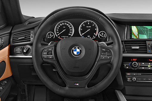 AUT 30 IZ2483 01 © Kimball Stock 2015 BMW X4 XDrive 28i 5-Door SUV Interior Detail In Studio