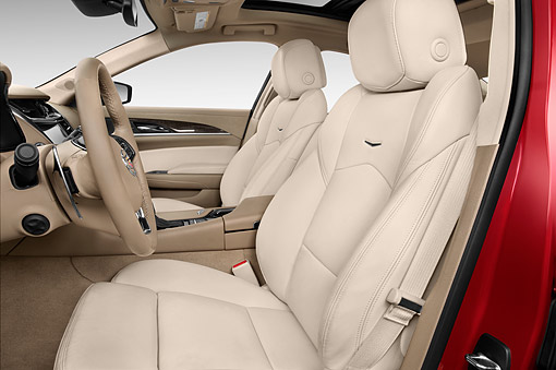 AUT 30 IZ2504 01 © Kimball Stock 2015 Cadillac CTS 3.0 RWD Luxury Collection 4-Door Sedan Interior View In Studio