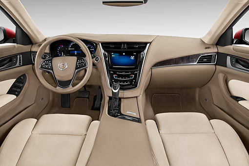 AUT 30 IZ2505 01 © Kimball Stock 2015 Cadillac CTS 3.0 RWD Luxury Collection 4-Door Sedan Interior View In Studio