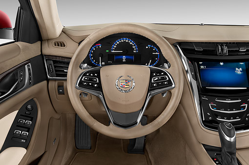 AUT 30 IZ2506 01 © Kimball Stock 2015 Cadillac CTS 3.0 RWD Luxury Collection 4-Door Sedan Interior View In Studio