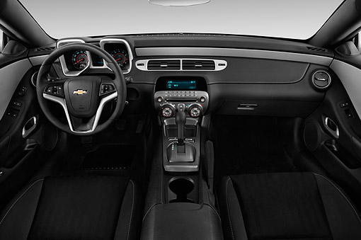 AUT 30 IZ2521 01 © Kimball Stock 2015 Chevrolet Camaro 3.6 1LS 2-Door Coupe Interior Detail