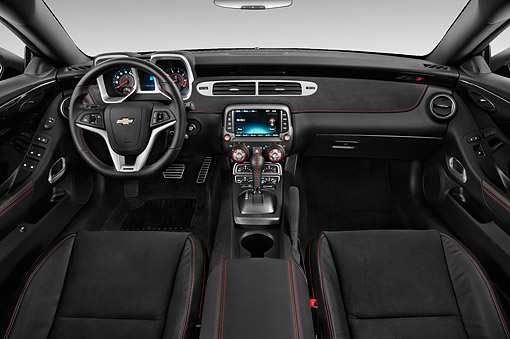 AUT 30 IZ2529 01 © Kimball Stock 2015 Chevrolet Camaro ZL1 Convertible 2-Door Interior Detail