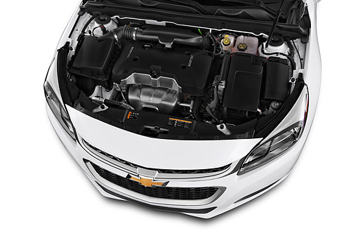 AUT 30 IZ2539 01 © Kimball Stock 2015 Chevrolet Malibu 1LS 4-Door Sedan Engine Detail
