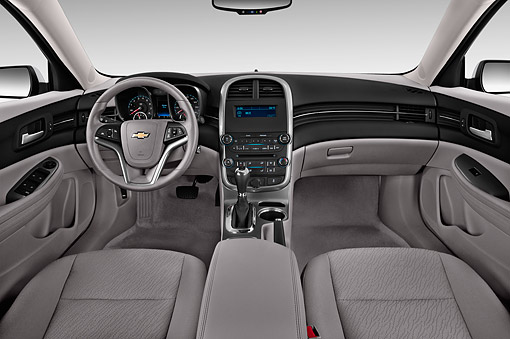 AUT 30 IZ2541 01 © Kimball Stock 2015 Chevrolet Malibu 1LS 4-Door Sedan Interior Detail